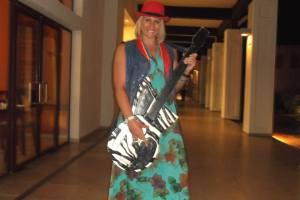 Rock guitarist Cuban style