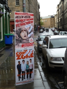 Edinburgh Fringe  lamp posters in 2012