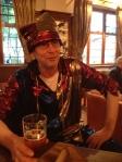 Martin Soan in full jester garb last night