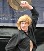 BBC photo of Martin at the fool show