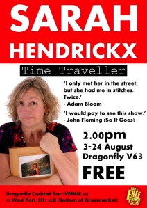 Sarah's Edinburgh Fringe poster worryingly says I would pay to see the free show