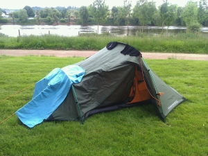 Sarah's tent - temporarily abandoned, it seems