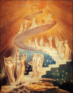 William Blake's vision of Jacob's Ladder