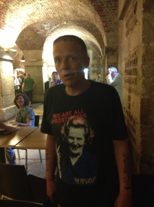 Del in St Martin in the Fields crypt yesterday