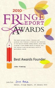 My award as Best Awards Founder