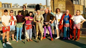 The Heroes of Fringe on a London rooftop