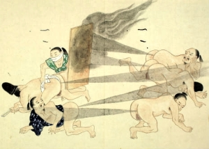 Japanese fart battles of the 17th century