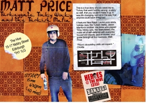Matt Price's new show at Edinburgh Fringe