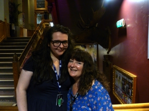 Ashley Storrie with mother Janey at the Gilded yesterday