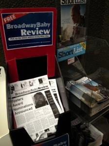 Broadway Baby in Edinburgh yesterday - or is it?