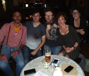 Last night (from left) Mills, Ellis, Rose, Levites, Copstick