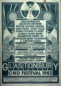 1982 - the Glastonbury Festival