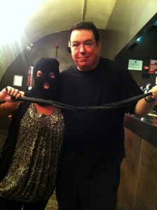 Machete Hetty and Matt Price at The Hive yesterday