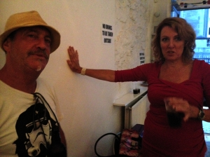 Ian Cognito and Pam Ford at Bob's Bookshop last night