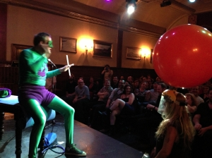 Mr Methane prepares to fart a dart from his bottom