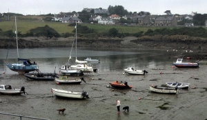 At the Isle of Whithorn, the tide is out and so it T-mobile