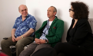 Moi, Arthur Smith and Kate Copstick chatted on Monday