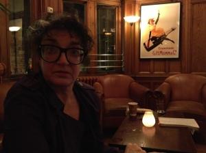 A startled Kate Copstick lurks in gloom last night