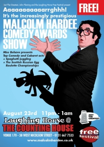 The Malcolm Hardee Comedy Awards disasters