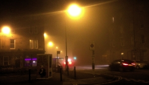 Misty Edinburgh as I left it last night
