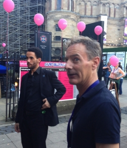 Steve Ullathorne, photographer to the stars, outside the Gilded Balloon yesterday
