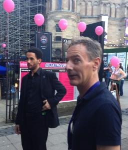 Steve Ullathorne, photographer to the stars, outside the Gilded Balloon yesterday