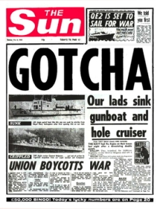 The 1982 Falklands Conflict - same year as IRA attacks