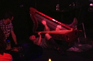 Ursula Burns performing at the Piano Bar in Edinburgh