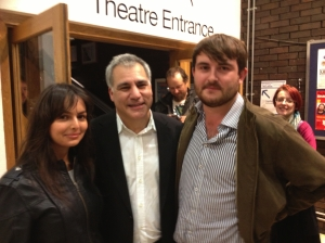 Lewis Schaffer (centre) with Alicia and Alex