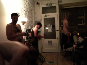Four went naked in Edinburgh last night