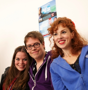 (From left) Juliette Burton, Jorrick Mol, Laura Levites