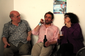 (From left) Me, Tim Fitzhigham, Kate Copstick