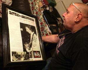 Lou looks at Paul Fox's poster last night