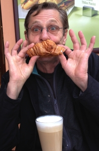 Martin Soan wears breakfast yesterday