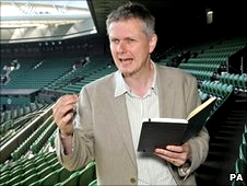 Matt declaimed his poetry to the BBC at Wimbledon in 2010