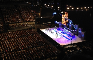 Rod Stewart's show at the O2 Arena last night