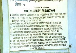 The regulations at Tuol Sleng - S-21 - Phnom Penh