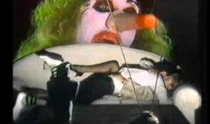 Clowning around on the sofa