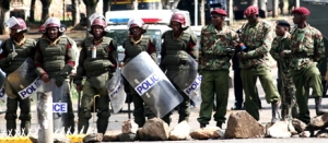 Members of Kenya's General Service Unit police