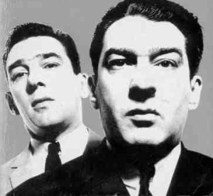 Ronnie (right) & Reggie Kray as photographed by David Bailey in the 1960s