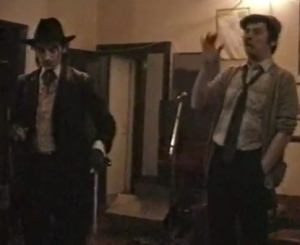 Ian Hinchliffe (right) with Sir Gideon Vein (Tony Green)