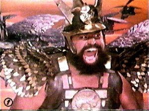 Brian Blessed flying high as Vultan