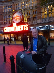 David McGillivray yesterday, by a rubbish bin in London - He suggested the bin