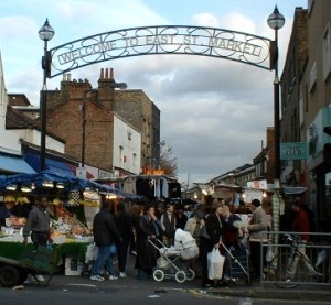 East Street market in London, where Martin worked
