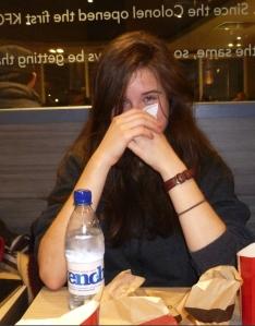 Marina was both shy and Latvian