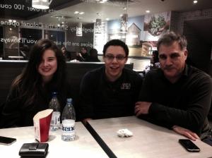 Marina, Alex and Lewis last night