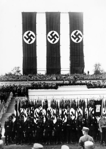 The Nuremberg Rally review stand in 1933