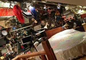 Phil Zimmerman's hi-tech bedroom