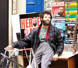Tim Renkow at this year's Edinburgh Fringe (Photograph by Brian Higgins)