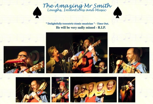 Mr Smith's website today, with photos by Barry Stacey